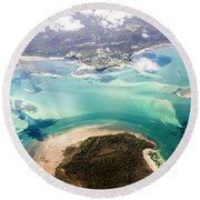 Queensland Island Bay Landscape Round Beach Towel