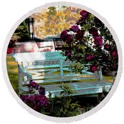 Quiet And At Peace Round Beach Towel