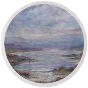 Quiet Bay. Round Beach Towel