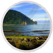 Quiet Bay Round Beach Towel