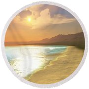 Quiet Places Round Beach Towel