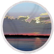 Quiet Reflection II Round Beach Towel