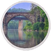 Quiet River Round Beach Towel by Bill Cannon