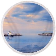 Quiet Sea Round Beach Towel