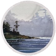 Quiet Shore Round Beach Towel