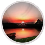 Quiet Still Round Beach Towel
