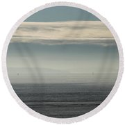 Quiet Whispers Of Fresh Breezy Airs Round Beach Towel