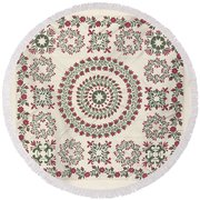Quilt Round Beach Towel