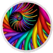 Quite Different Colors -20- Round Beach Towel