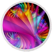 Quite In Different Colors -1- Round Beach Towel