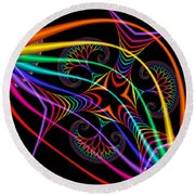 Quite In Different Colors -3- Round Beach Towel