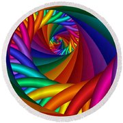 Quite In Different Colors -6- Round Beach Towel
