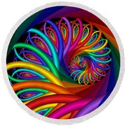 Quite In Different Colors -7- Round Beach Towel