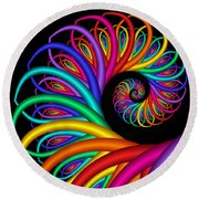 Quite In Different Colors -8- Round Beach Towel