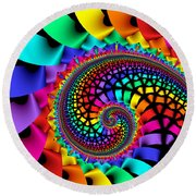 Quite In Different Colours -13- Round Beach Towel