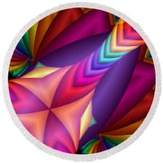 Quite In Different Colours -15- Round Beach Towel