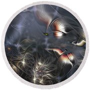 Quixotic Cerebrations Round Beach Towel