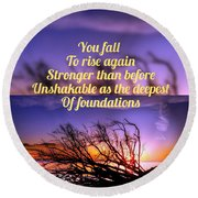 Quote4 Round Beach Towel