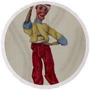 """""""sinbad"""" Marionette Round Beach Towel"""