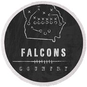 Atlanta Falcons Art - Nfl Football Wall Print Round Beach Towel