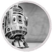 R2 Feeling Lonely Round Beach Towel