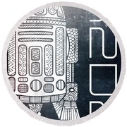 R2d2 - Star Wars Art - Space Round Beach Towel
