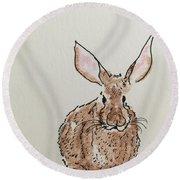 Rabbit 4 Round Beach Towel