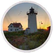 Race Point Lighthouse 2015 Round Beach Towel