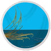 Racers Round Beach Towel