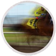 Racetrack Dreams 1 Round Beach Towel