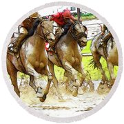 Racetrack Dreams 11 Round Beach Towel