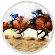 Racetrack Dreams 7 Round Beach Towel