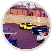 Racing At Laguna Seca Round Beach Towel