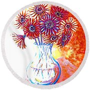 Radiant Array Round Beach Towel