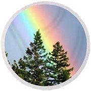 Radiant Rainbow Round Beach Towel