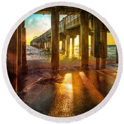 Radiant Rays Round Beach Towel