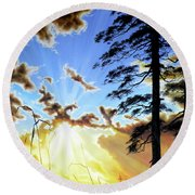 Radiant Reflection Round Beach Towel