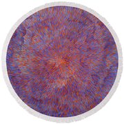 Radiation With Blue And Red  Round Beach Towel