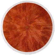 Radiation With Brown Yellow And Voilet Round Beach Towel
