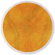 Radiation With Gold  Red And Brown  Round Beach Towel