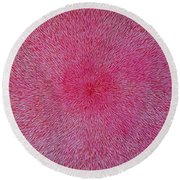 Radiation With Pink And Magenta  Round Beach Towel