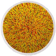 Radiation Yellow  Round Beach Towel