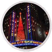 Radio City Music Hall Round Beach Towel