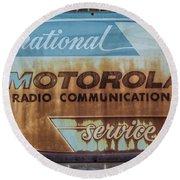 Radio Communications Round Beach Towel