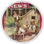 Radio News, 1926 Round Beach Towel