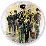 Raf Military Parade In York Round Beach Towel