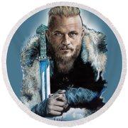 Ragnar Lothbrok Round Beach Towel