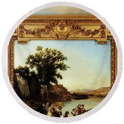 Rahoult Charles Diodore Allegory Of Spring Round Beach Towel