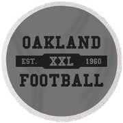 Raiders Retro Shirt Round Beach Towel
