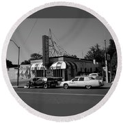 Raifords Disco Memphis A Bw Round Beach Towel